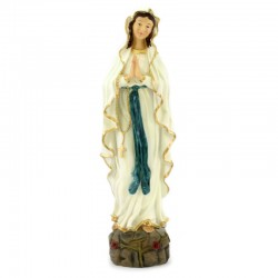 Statua Madonna di Lourdes in resina dipinta 50 cm