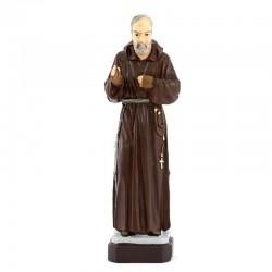 Statua San Pio da Pietrelcina in resina siliconica colorata 16 cm