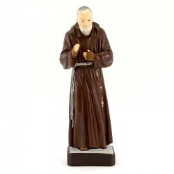 Statua San Pio da Pietrelcina in resina siliconica colorata 30 cm