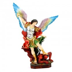 Statua San Michele ali aperte in resina 55 cm