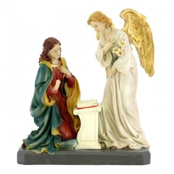 Statua Annunciazione in resina colorata 31 cm
