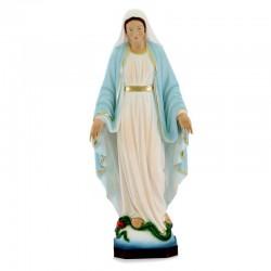 Statua Madonna Miracolosa in resina dipinta 30 cm