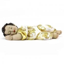 Resin sleeping Baby Jesus gold dress 31.5 cm