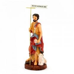 Statua San Giovanni Battista in resina 17,5 cm