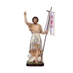 Statua San Giovanni Battista in resina dipinta 30 cm