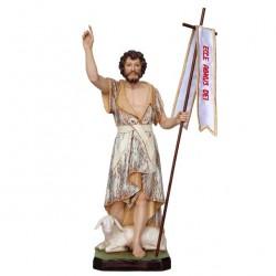 St. John the Baptist painted resin statue 30 cm