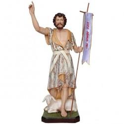 St. John the Baptist painted resin statue 60 cm