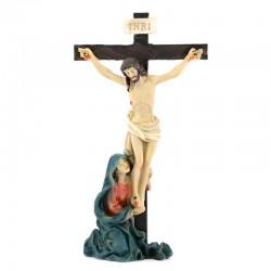 Jesus Crucifixion colored resin 9 cm