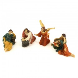 Jesus praying in the olive tree garden 4 figurines 9 cm