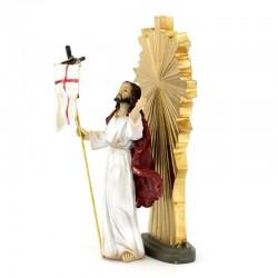 Jesus Resurrection in colored resin 9 cm