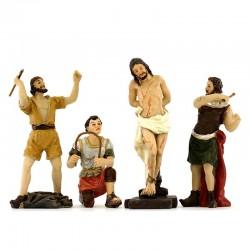 Scena passione di Cristo flagellazione 9 cm