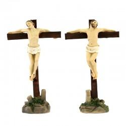Statuine dei due ladroni sulla croce 9 cm