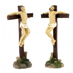 Two thieves on the cross statues 9 cm