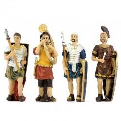 Statuine di quattro soldati romani 9 cm