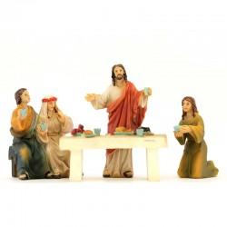 Scena Nozze di Cana resina colorata 9 cm