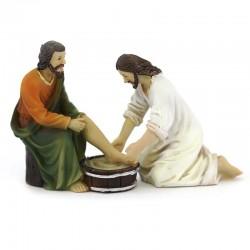 Scena vita di Gesù lavanda dei piedi 9 cm