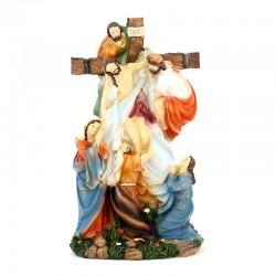 Statua rimozione di Gesù dalla Croce 30 cm