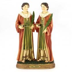 Statua Santi Cosma e Damiano in resina 30 cm