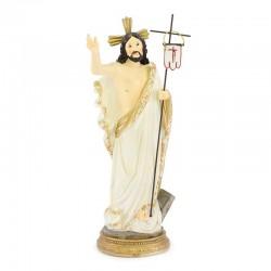 Statua Gesù Risorto in resina colorata 22 cm