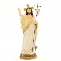 Statue of Risen Jesus in colored resin 31 cm