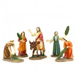 Scene of Jesus entrance in Jerusalem 10,5 cm
