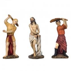 Scena passione di Cristo flagellazione 14 cm