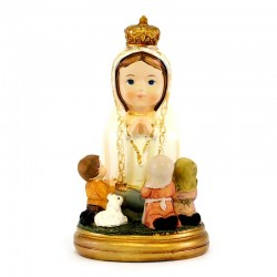 Statua Madonna di Fatima con pastorelli baby 9 cm