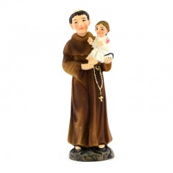 Saint Anthony of Padua colored resin statue 9 cm