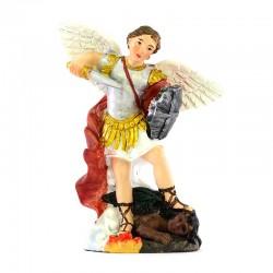 Saint Michael the Archangel colored resin statue 9 cm