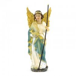 Statua San Raffaele Arcangelo in resina colorata 20 cm