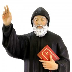 Saint Charbel statue in painted resin 40 cm