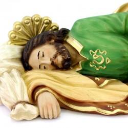 Sleeping Saint Joseph statue in resin 30 cm