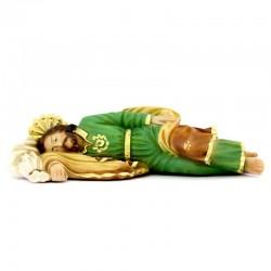 Saint Joseph sleeping statue in resin 20 cm