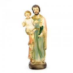 Statua San Giuseppe in resina colorata 8 cm
