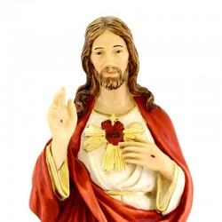 Sacred Heart of Jesus statue in pastel colors 50 cm