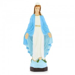 Miraculous Madonna statue in silicone resin 16 cm