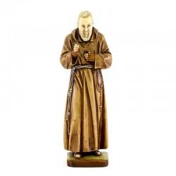 St. Pio of Pietrelcina in colored resin 16 cm