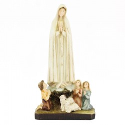 Our Lady of Fatima statue with shepherds 26 cm
