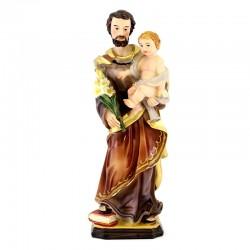 Saint Joseph colored resin statue 20 cm