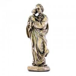 Saint Joseph bronze resin statue 9 cm