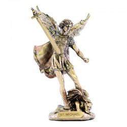 Saint Michael bronze resin statue 9 cm