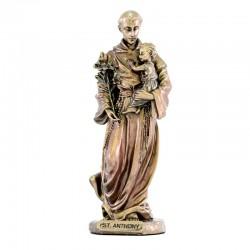Saint Anthony bronze resin statue 9 cm