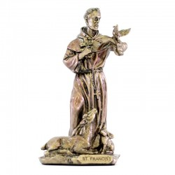 Saint Francis bronze resin statue 9 cm