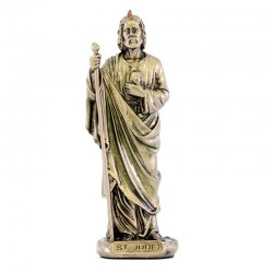 Saint Jude bronze resin statue 9 cm