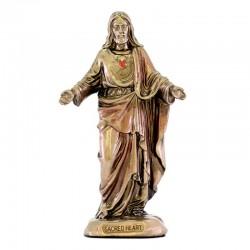 Sacred Heart of Jesus bronze resin statue 9 cm