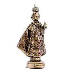 Infant Jesus of Prague bronze resin statue 9 cm