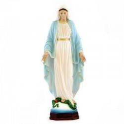 Miraculous Virgin statue in painted resin 60 cm