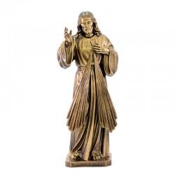Merciful Jesus bronze resin statue 50 cm