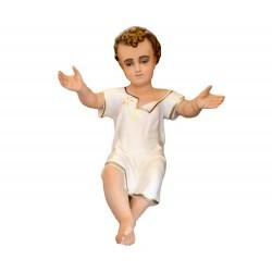 Gesù Bambino in resina colorata 50 cm