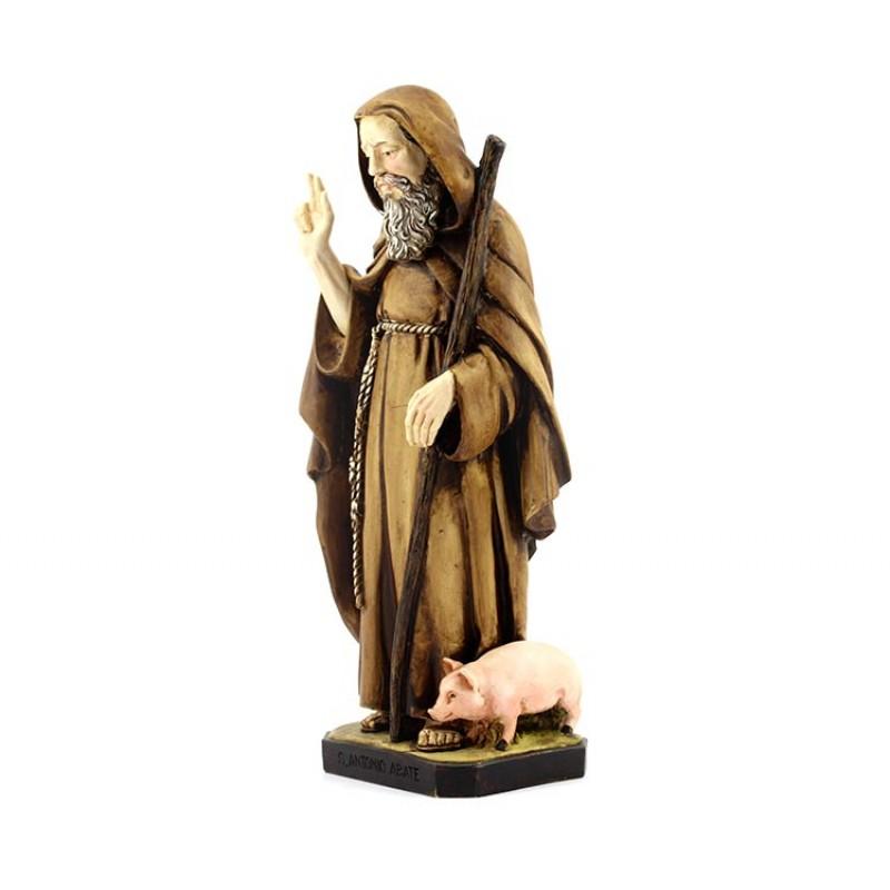 Statua sant 39 antonio abate in resina 30 cm for Arredo bimbo sant antonio abate